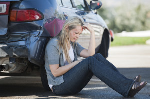 Personal Injury - Woman outside of car accident